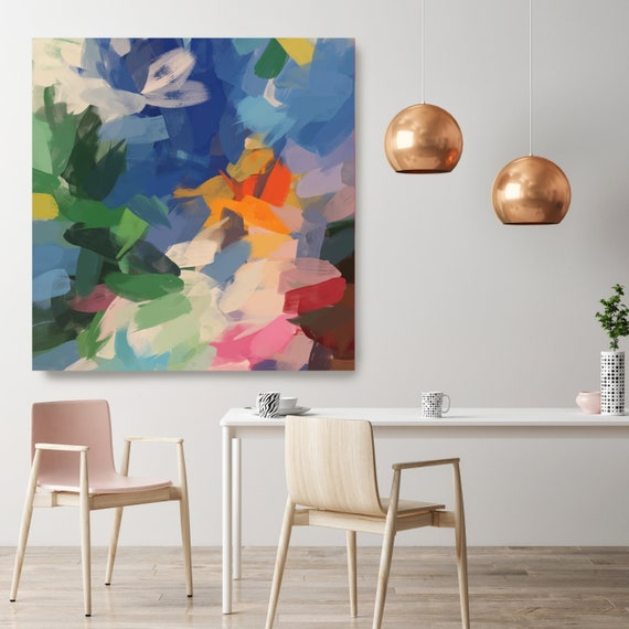 "Extra Large Painting Colorful Extra Large Wall Art Colorful Chaos Abstract Extra Large Art Canvas UP TO 50"" by Irena Orlov"