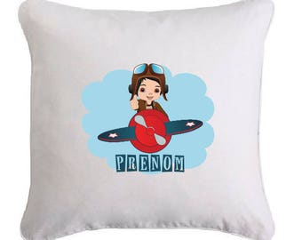 Little Aviator pillow personalized with name
