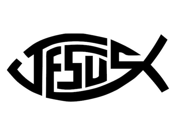 Jesus Fish Decal Jesus Fish Bumper Sticker Christian Fish