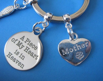 Mother Bereavement Keyring Mum Loss In Memory of Mother Keychain In Sympathy of Mother Gift