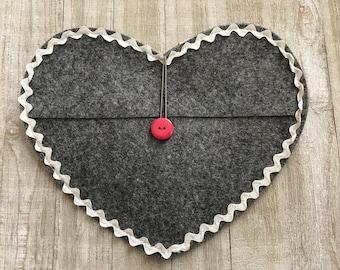 Valentine Heart Felt Envelope  - DIY Party Favor Supply