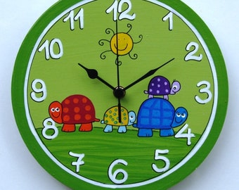 The Turtles Family wall clock