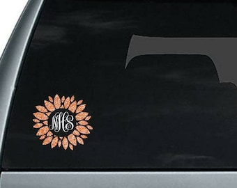 Monogram decal, monogram window sticker, window decal, vinyl decal, monogram gift, initial decal, initial sticker, car decal, vinyl sticker