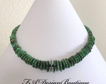 Elegant! Green Turquoise Necklace
