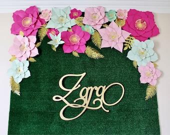 Paper flower backdrop, Paper flowers, flower backdrop, wedding backdrop, paper flower wall, large paper flowers, paper flower decor