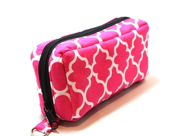 Essential Oil Case Holds 10 Bottles Essential Oil Bag Pink and White Lattice