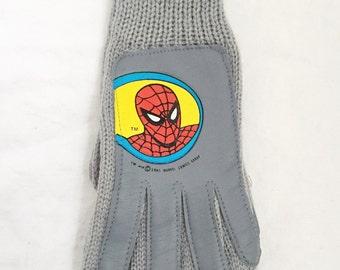 kids spiderman winter gloves boys OSFA