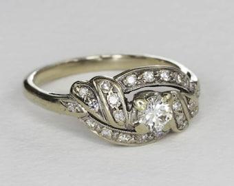Vintage Art Deco Diamond Ring, 0.32 Ct