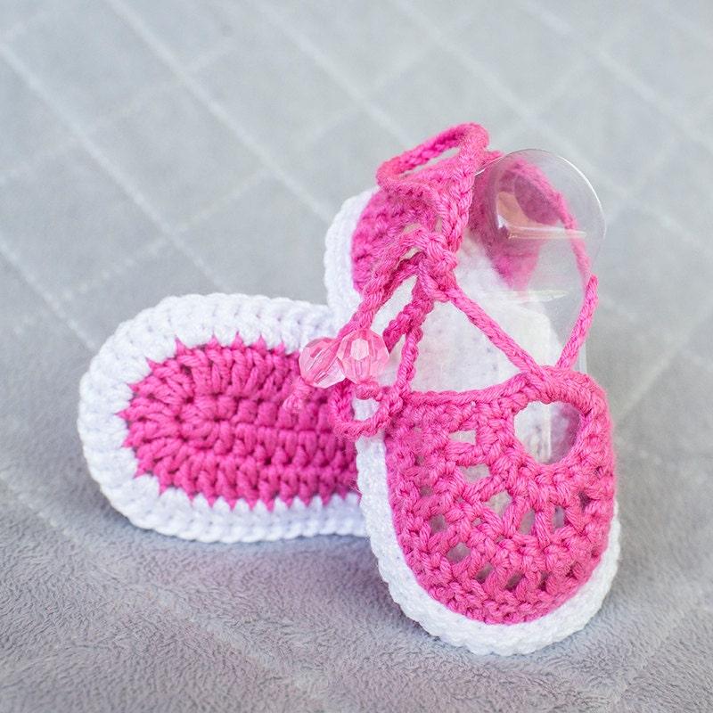 Sandalias sandalias de chica de bebé del ganchillo ganchillo