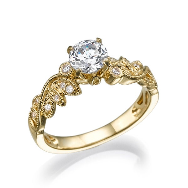 engagement diamond ring cut gold brilliant rings yellow jewellery shaped round carat heart