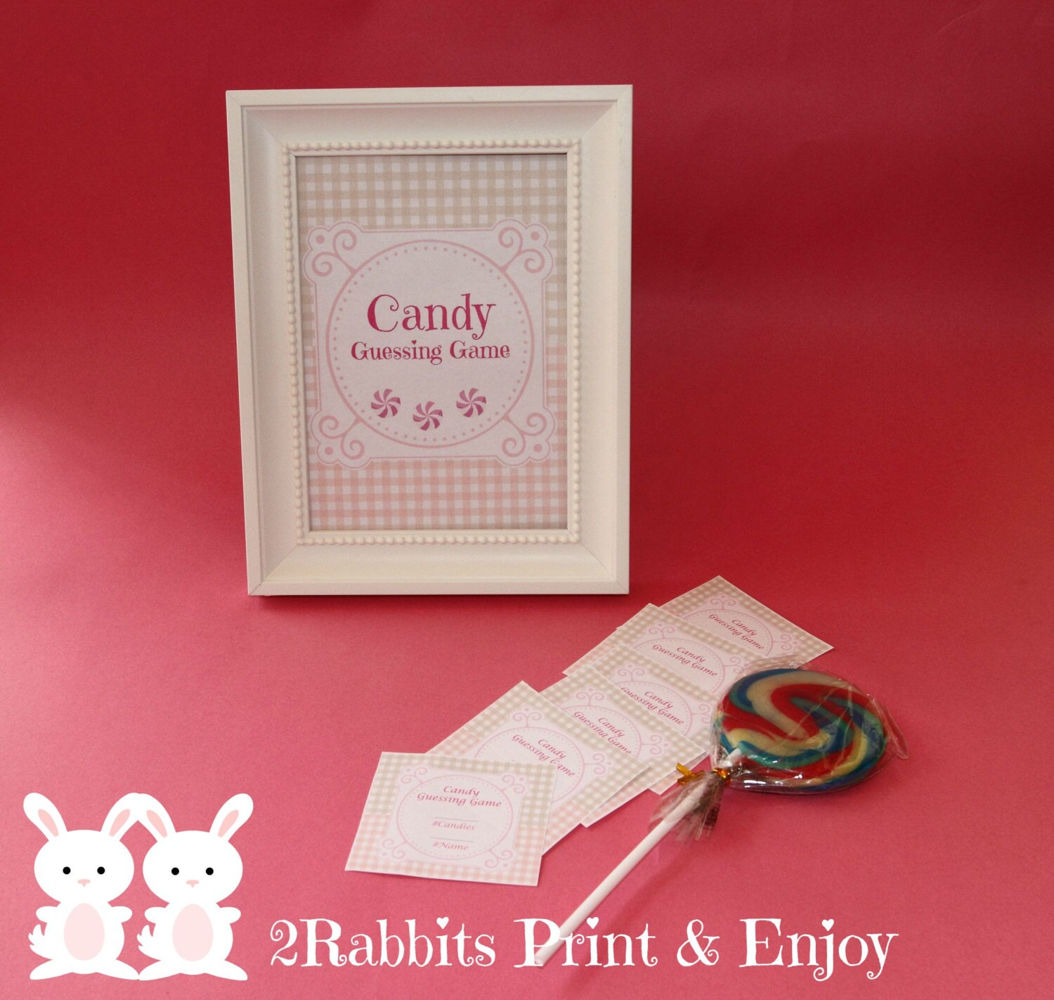 Candy Guessing Game with Matching Sign How Many Candies in the