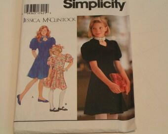 Simplicity Jessica McClintock Pattern 9963 Girls Dress