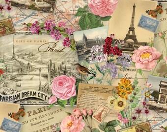Spring In Paris - Elizabeth's Studio 4900-CREAM (sold by the 1/2 yard)