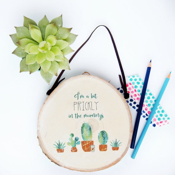 Succulent Wood Decor