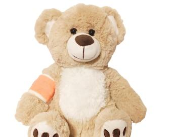 Orange Cast Broken Arm Higgy Bear