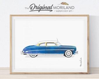 Hornet Car Print, Classic Car Decor, Vehicle Art, Car Printable, Transportation Wall Art, Boys Room Decor, Vintage Car Poster