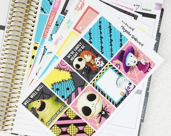 The Nightmare Before Christmas Weekly Planner Sticker Kit! Perfect for your Erin Condren Life Planner!