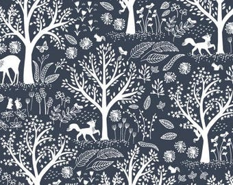 Blue Moon Folkstone By Dear Stella Fabrics, Forest Animals, Animal Lover, Nature