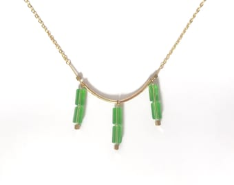 Necklace - Tropical green-