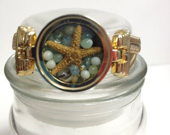 Repurposed Upcycled/Recycled Beach Watch Bracelet W8