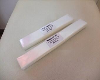 250 quality clear cellophane bags 3 x 15 cm , 3 x 20 cm or 3 x 25 cm