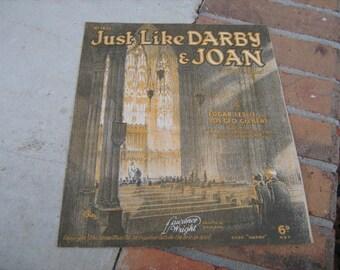 1928 sheet music (  just like darby & joan  )