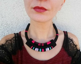 African necklace, african jewelry, bib necklace, statement necklace, ethnic necklace, tribal necklace, ethnic jewelry,  fashion necklace