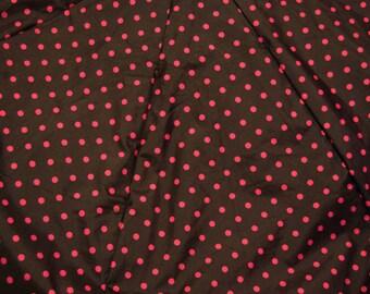 Black and Pink Polka Dot Gap Upcycled Umbrella Dog Rain Coat