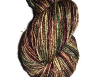 Multi Color Superwash Merino Yarn - Hand Dyed Yarn - DK Weight Merino Yarn - Superwash Double Knit 3 Ply Yarn - Merino Wool - EU SELLER