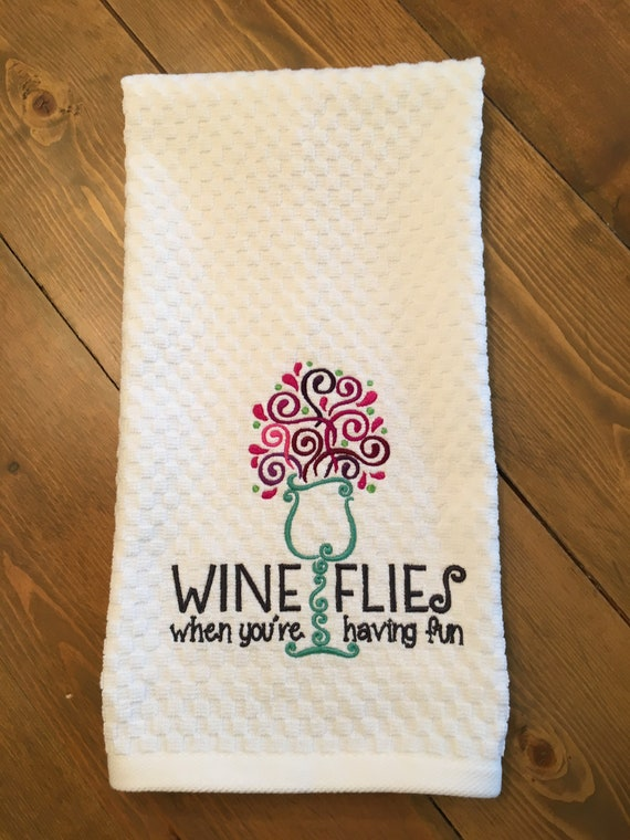 Wine Loveru0027s Funny Kitchen Towel Dish Towel Tea Towel
