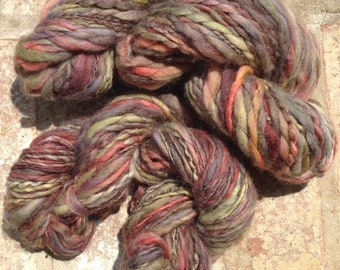 Vogon Dungeon - 13% off - OOAK handspun thread plied yarn 120 yards 82g/2.9 oz. or 92 yards 39g/1.36oz