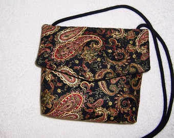 Sale Item Bag,Small Paisley Handbag, Small Crossbody Bag, Paisley Purse