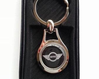 MINI Chrome Key Ring Fob Keyring Gift Idea