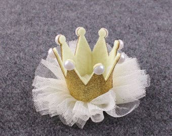 Gold Baby Crown Headband, Pink Crown Headband, Baby Crown, Gold Princess Crown, Infant Crown Headband, Newborn Crown, First Birthday Crown