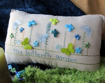 My Butterfly Garden Pillow (Cottage Style)