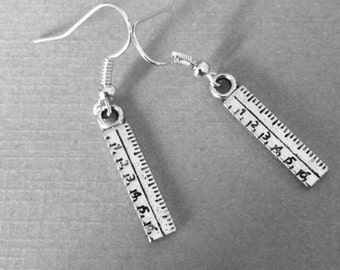 Ruler Thank you teacher  earrings