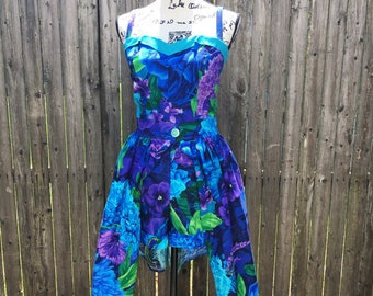 Tropical Floral Pinup Playsuit and Skirt