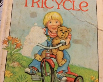 "Vintage Children's Book ""Stevie's Tricycle"" by Pnina Moed-Kass First  Little Golden Book"