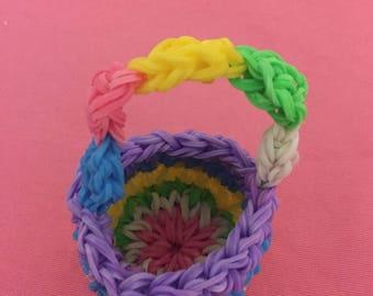 Rainbow Loom /jouet elastics 3D basket decoration