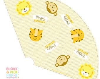 PRINTABLE Baby Animal Party Cones - #DIY #Instant #Digital #File #Printable