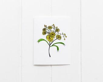 Yellow Ranunculus Card
