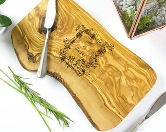 Personalised 'Botanical' Wedding Serving Board Gift