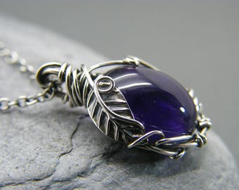 Amethyst tree of life necklace raw amethyst necklace tree amethyst necklace amethyst pendant sterling silver birthstone necklace nature inspired amethyst jewellery amethyst leaves aloadofball Gallery