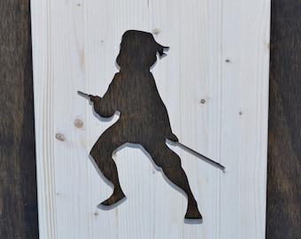 Mulan Wood Silhouette Disney Cutout