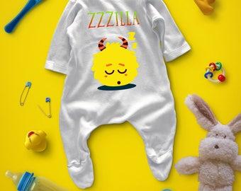 Monster baby pyjamas, Monster baby sleepwear, Monster baby jammies, Monster baby, Baby shower present, Baby shower gift, Baby present