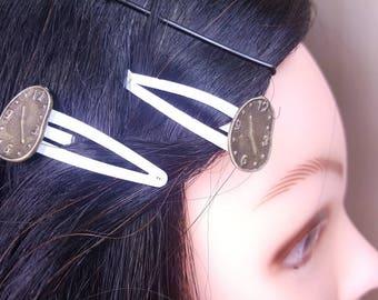Melting Clocks Hair Clips