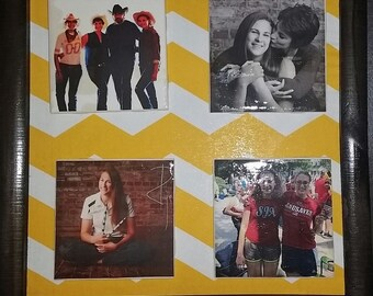 Personalized Photo Tile Magnets with Frame - Great Gift for Graduation/Wedding/Family/Remembrance/Birthday & more!