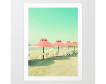 Extra large wall art, beach wall art, wall art canvas, beach print, large wall art, beach photography, beach umbrella, canvas art, beach art