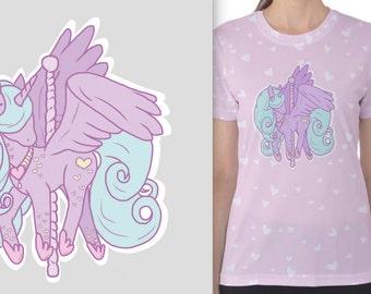 Carousel Alicorn TShirt (Womens)