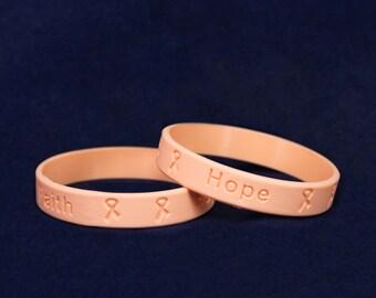 50 Adult Peach Silicone Bracelets (50 Bracelets) (SILB-20)